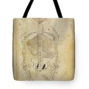 Mansurs Anatomy, Skeletal System, 15th Tote Bag