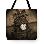 Mantel Clock Tote Bag