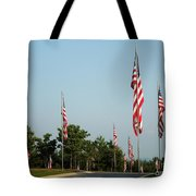Many American Flags Tote Bag