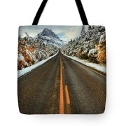 Many Glacier Road Tote Bag