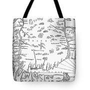 Map: Connecticut, 1661 Tote Bag