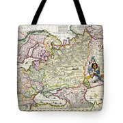 Map Of Asia Minor Tote Bag