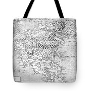 Map Of New France, 1566 Tote Bag