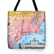 Map Of New Netherland, 1650s Tote Bag