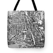 Map Of Paris Tote Bag by German School