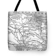 Map: Suez Canal, 1869 Tote Bag