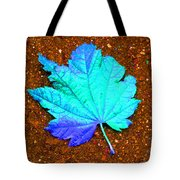 Maple Leaf On Pavement Tote Bag