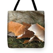 Maple Leaves Contrasted Tote Bag