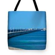 Marathon And The 7mile Bridge In The Florida Keys Tote Bag