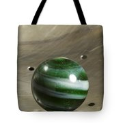 Marble Green Onion Skin 5 Tote Bag