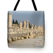 Marble Street In Ephesus Tote Bag