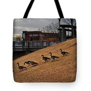 March To The Water Tote Bag