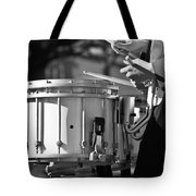Marching Band Drummer Boy Bw Tote Bag