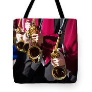 Marching Band Saxophones Cropped Tote Bag