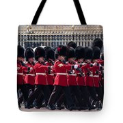 Marching In Red And Black Tote Bag