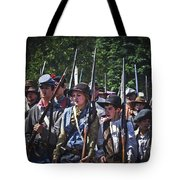 Marching In To Town Tote Bag