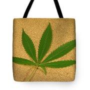 Marijuana Leaf Tote Bag