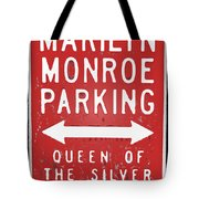 Marilyn Monroe Parking Tote Bag