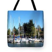 Marina At Cascade Locks Tote Bag