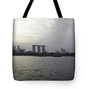Marina Bay Sands And Flyer Along With Singapore Skyline From The Tote Bag