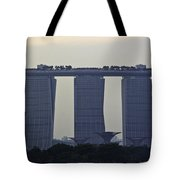 Marina Bay Sands As Seen From The Harbor Cruise Tote Bag