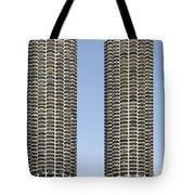 Marina City Chicago - Life In A Corn Cob Tote Bag