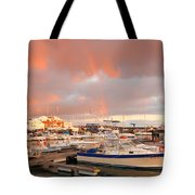 Marina In The Azores Tote Bag