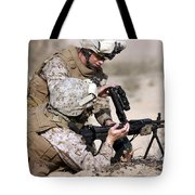 Marine Gives Instructions On How Tote Bag