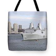 Marines And Sailors Man The Rails Tote Bag