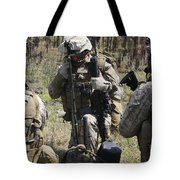 Marines Communicate With Other Elements Tote Bag