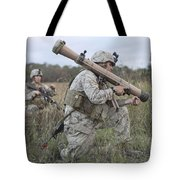 Marines Conduct A Simulated Attack Tote Bag by Stocktrek Images