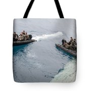 Marines Depart The Well Deck Tote Bag