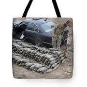 Marines Discover A Weapons Cache Tote Bag by Stocktrek Images