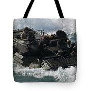Marines Drive An Amphibious Assault Tote Bag