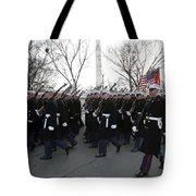 Marines Participate In The 2009 Tote Bag
