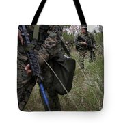 Marines Patrol The Central Training Tote Bag