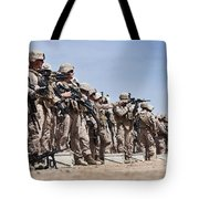 Marines Verify The Battle Sight Zeroes Tote Bag