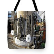 Maritime Pulley And Rope Work Tote Bag