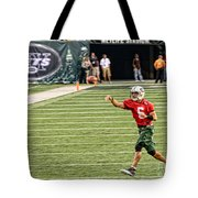 Mark Sanchez Ny Jets Quarterback Tote Bag