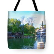 Mark Twain Riverboat At Disneyland Tote Bag