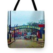 Market Street From Penns Landing Philadelphia Tote Bag