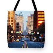 Market Street In The Morning Tote Bag