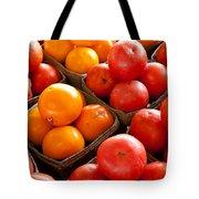 Market Tomatoes Tote Bag by Lauri Novak