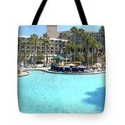 Marriott Hotel Swimming Pool Panorama Orlando Fl Tote Bag
