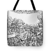 Mars, Roman God Of War Tote Bag