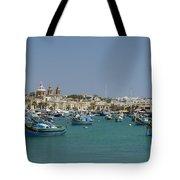 Marsaxlokk Harbour Tote Bag