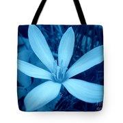 Marsh Grass Flower In Blue Tote Bag