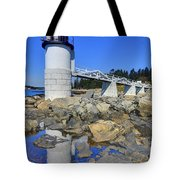 Marshall Point Light Reflection Tote Bag