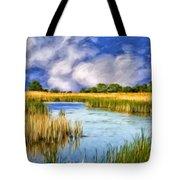 Marshlands On Isle Of Palms Tote Bag