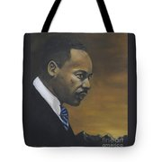 Martin Luther King Jr - From The Mountaintop Tote Bag by Dwayne Glapion